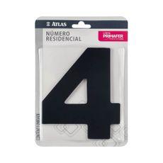 numero-resindencial-4-atlas-em-acm-preto