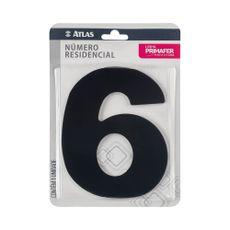 numero-resindencial-6-atlas-em-acm-preto