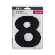 numero-resindencial-8-atlas-em-acm-preto